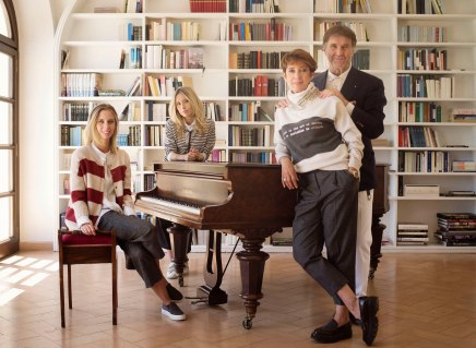 07/11/2016 Solomeo(PG) Brunello Cucinelli with and without his family (with his wife Federica and their daughters Camilla and Carolina)