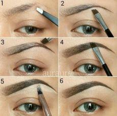 Eye brown make-up (1)